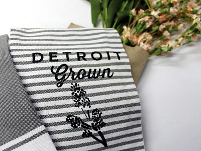 Detroit Grown Tea Towels madeindetroit home decor design handmade screenprint