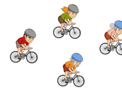 Map Design-Characters cycle cute sketching cartoon design logo cartoon character design animation branding vector ui illustration map