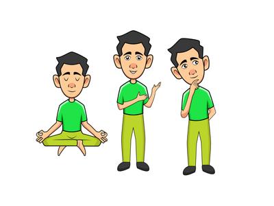 Character set mascot logo design illustration mascot character vector animation branding cartoon character