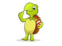 Character Design-Cute Turtle cartoon logo vector art vector drawing art design cute art illustraion character cute turtle logo turtle characterdesign