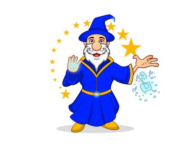 Character Design-Wiz Wizard album cover design poster vectors art illustraion web character design wizard cartoon logo illustration animation vector design cartoon character