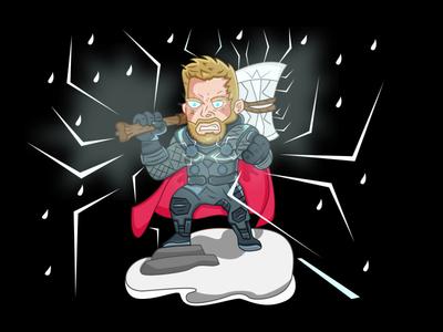 Character Design-Thor Marvel logo cartoon character artwork illustraion character design character movie art thor ragnarok comic marvel thor