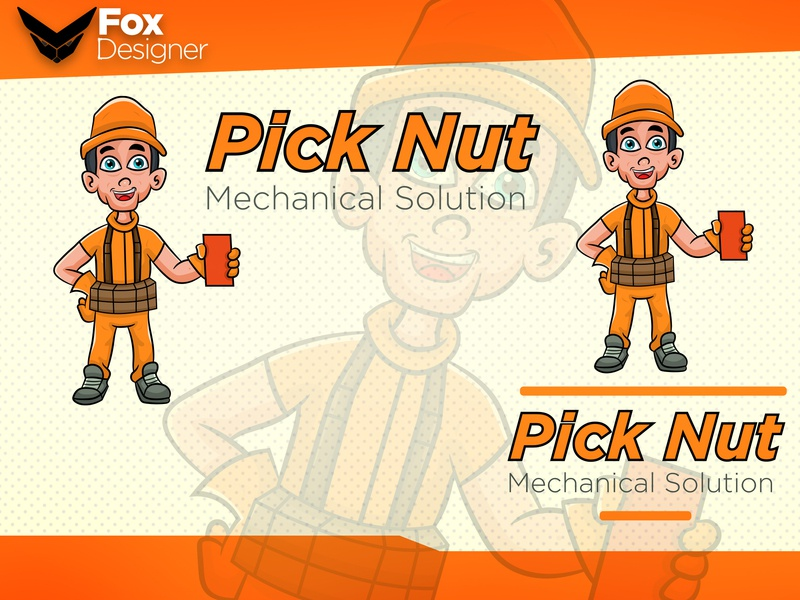 Pick Nut identity illustrator animation branding design typography vector logo mascot logo mascot design cartoon design mascot character mascot cartoon character