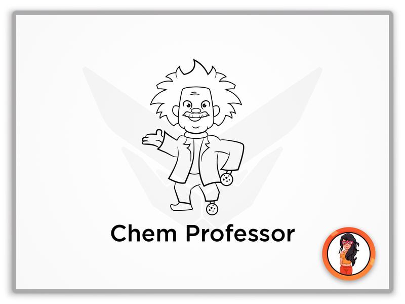 Chem Professor animation design icon app web illustration identity illustrator branding typography logo vector mascot logo mascot design cartoon design mascot character mascot cartoon character