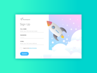 Rocketspeed Sign Up - Daily UI Challenge