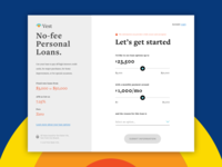 Vest Loan Calculator Landing Screen - Daily UI Challenge