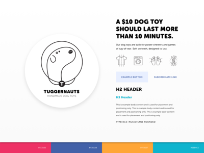 Tuggernauts Dog Toys - Simple Branding Board