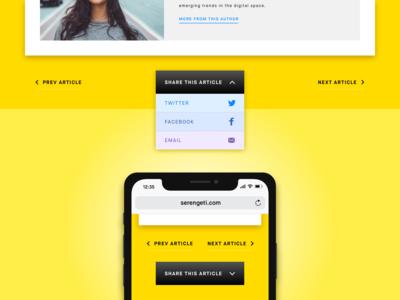 Serengeti Share Button  - Daily UI Challenge