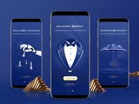 Design of fortune app guide page design app ui illustration
