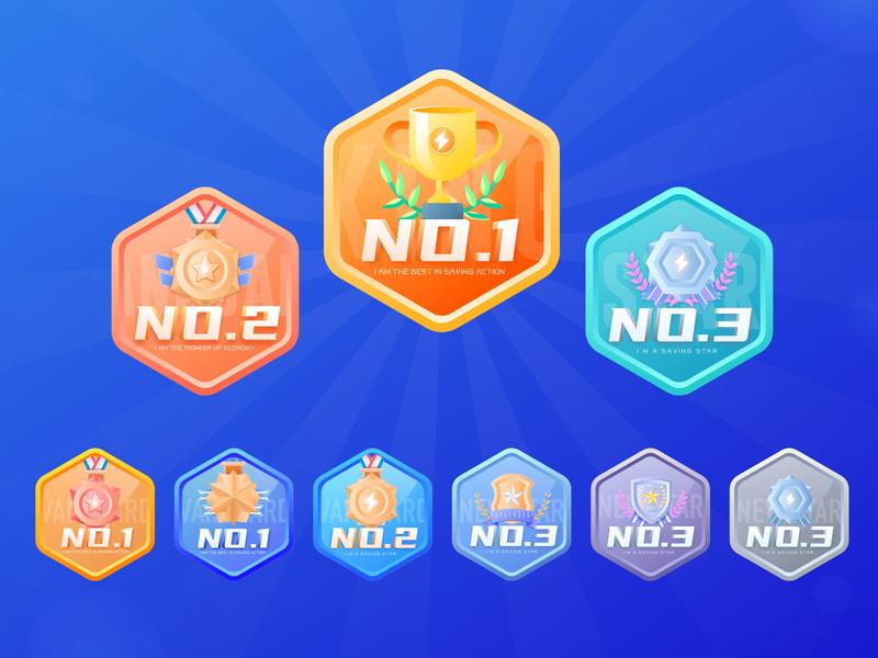medal-two design illustration ui