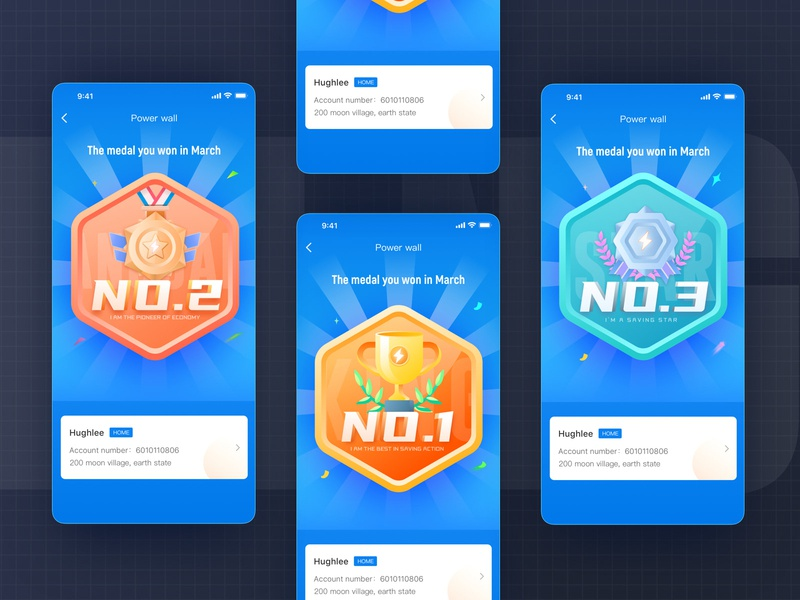 Medal-three design ui illustration