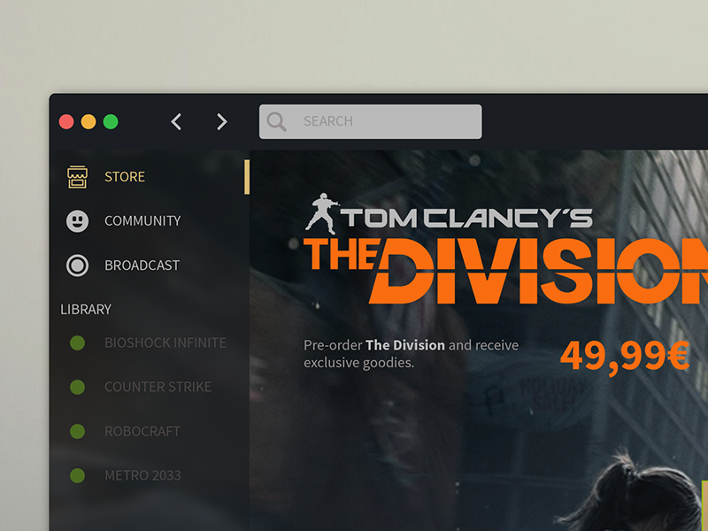 Redesign Steam by Rudy Rosciglione on Dribbble