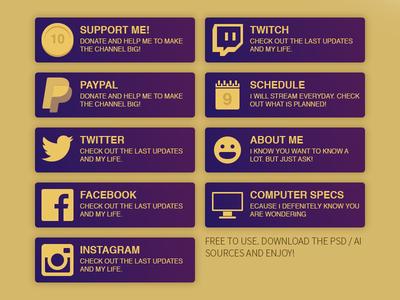 Twitch / Hitbox Panels