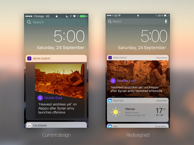 Yahoo! News Digest Widget by Rudy Rosciglione on Dribbble