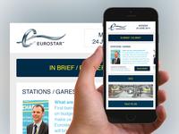 Eurostar Employee App Screen