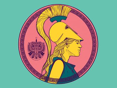 athena comic art cartoon illustration greek mythology portrait illustration characterdesign characters illustration digital art digital painting digital illustration