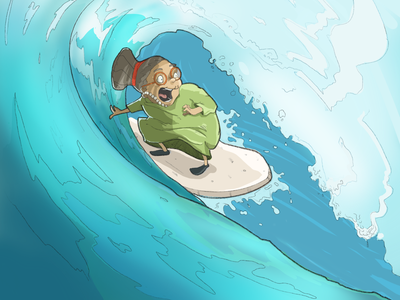 good times surfing comic comic art sketch doodle design characterdesign characters illustration digital art digital painting digital illustration