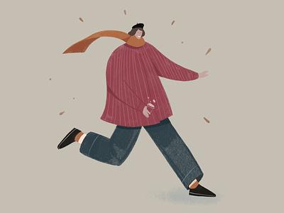 jumping gallop flat 2d illustration artist minimal illustrator digital digitalart character art