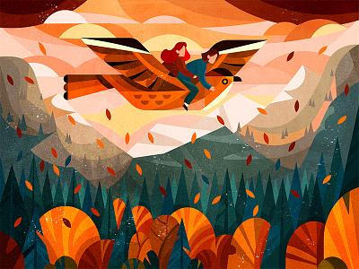 Flying friend artist vector digitalart 2d flat illustrator digital illustration character art