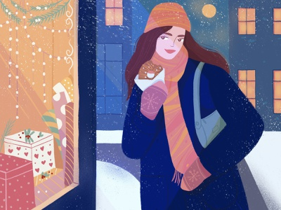 Holiday soon winter digitalart flat 2d artist illustrator digital illustration character art