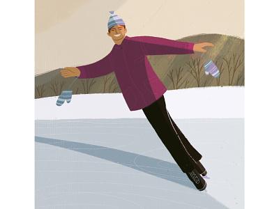 December winter flat design digitalart illustrator digital illustration character artist art