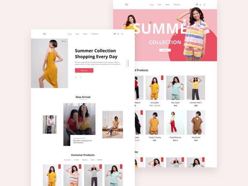 Fashion Web Demo branding web design ui