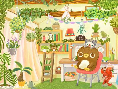 My favorite place (大好きな場所) illustrations