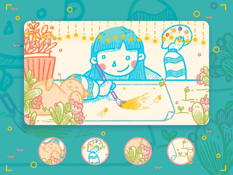 My work table illustration