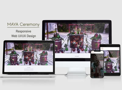 MAYAceremony responsive website