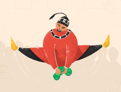 gnawa jump animation motion design flat design illustration art draw style flat illustration culture gnawa jump morocco