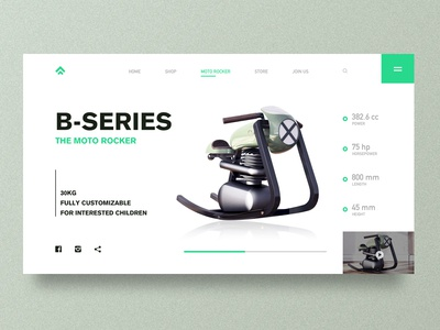 Web Design of Motorcycle Toys