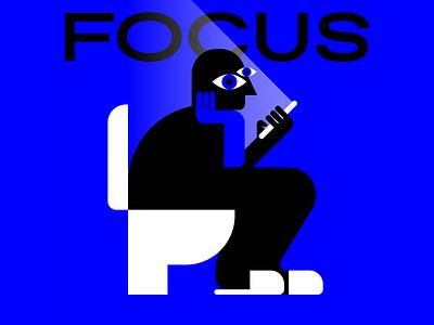 Focus toilets illustrator graphic design characters flat vector illustration social smartphone