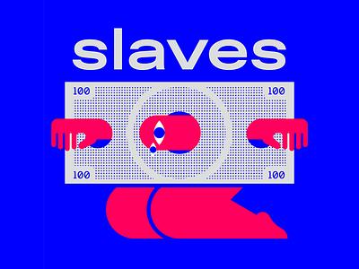 slaves wallstreet slaves money graphicdesign illo illustrator graphic design characters flat vector illustration