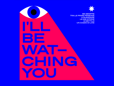 i'll be watching you eye graphicdesign illo illustrator graphic design characters flat vector illustration