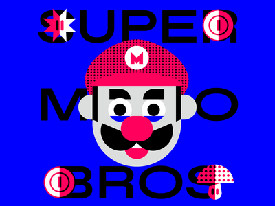Super Mario Bros videogame mariobros mario bros mario nintendo supermario graphicdesign illo illustrator graphic design characters flat vector illustration