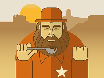 Bud idolillustrati bud budspencer illo vector flat illustration