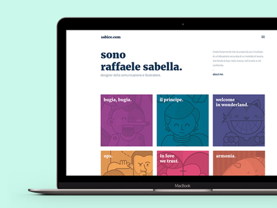 sabice.com - my new site is online showcase illustration digital portfolio design ux ui web