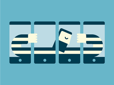 Prisoner mobile social iphone graphic palettes graphicdesign vector flat illustrator illustration