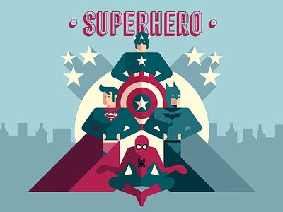 Superhero comics superhero superman batman spiderman america captain vector illustration graphicdesign graphic flat