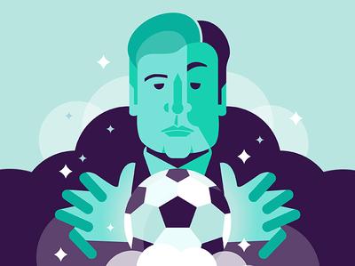 Mister Ancelotti serie a coach mister ancelotti napoli soccer graphicdesign illustrator illo graphic design characters flat vector illustration