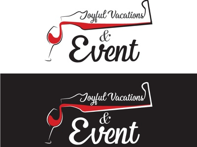 Joyful Vacations Events Logo designer typography logo design corporate minimal service design service services dribble company branding business flat logo design