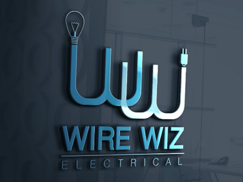 Wire Wise Electrical Logo agrncy company business freelancers dribble flat logo