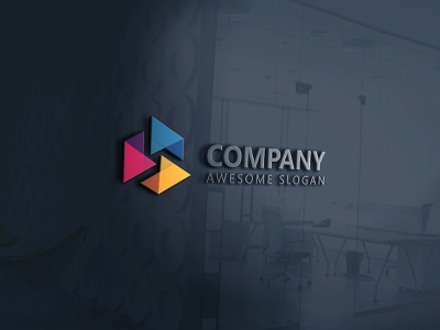 Awesome Corporate Logo Design logo design marketing dribble corporate company branding 2d business flat logo design