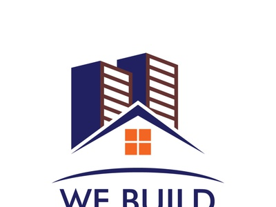 we build - Logo for builder's abstract logo design minimalist minimal illustration dribble corporate company branding 2d business flat logo design