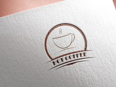 Hot Coffee minimal design event abstract logo design corporate designer minimal dribble company branding business flat logo design