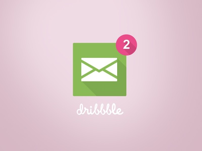 I have two invites! dribbble icon clean modern flat pink