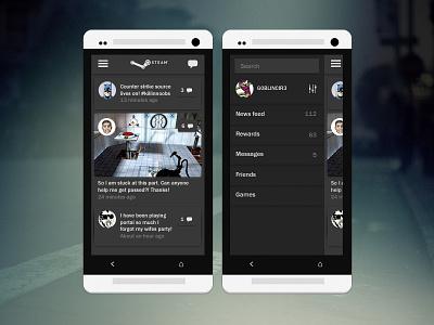 Steam Mobile Design mobile design ux flat clean modern easy