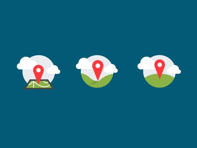 Location Icon Explorations clean icons location map pin flat