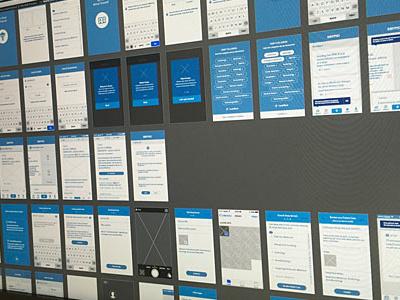 Mobile App UX app iphone ios medical agile modern clean illustrator ux wireframes