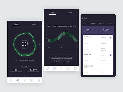 OE Dashboard tendril study exploration responsive modern clean ux ui